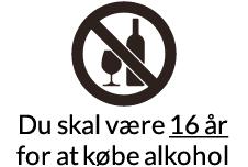 Alkohol under 16,5 %